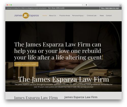 Best WordPress theme Salient - jamesesparza.com