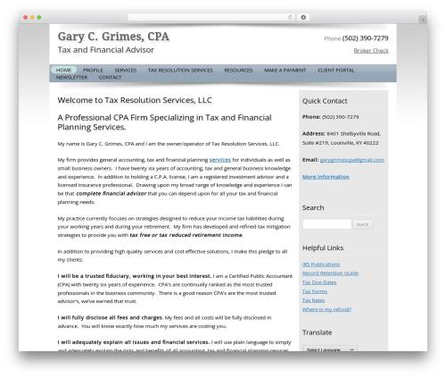 Customized top WordPress theme - garygrimescpa.com