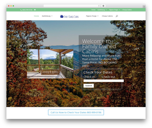 Divi WordPress website template - familyownedcabins.com