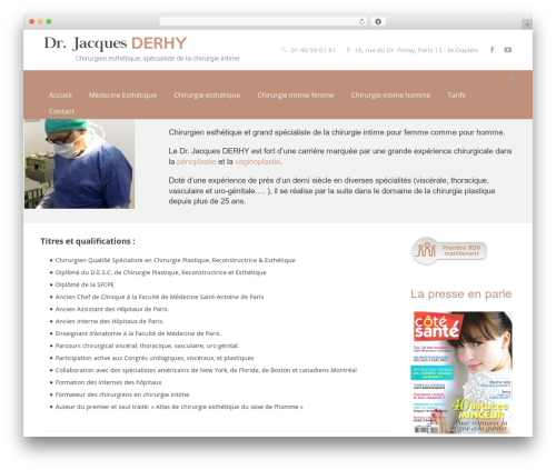 Impreza WP theme - chirurgie-esthetique-sur-paris.com