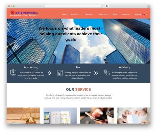 selfie free WordPress theme - highwidefinancial.com