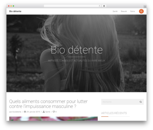 Smallblog free WordPress theme - biodetente.com