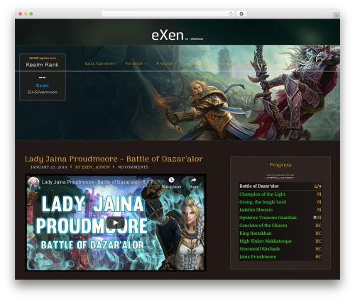 Free WordPress WoW Progress plugin by freevision sk - page 7