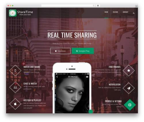 WordPress theme Applay - sharetimeapp.com