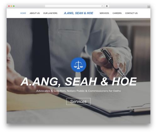 WordPress website template Skylar - aashlaw.com.sg
