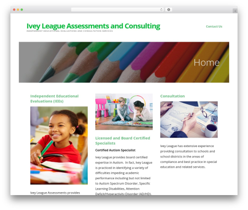 Ascension WordPress theme - iveyleagueassessments.com