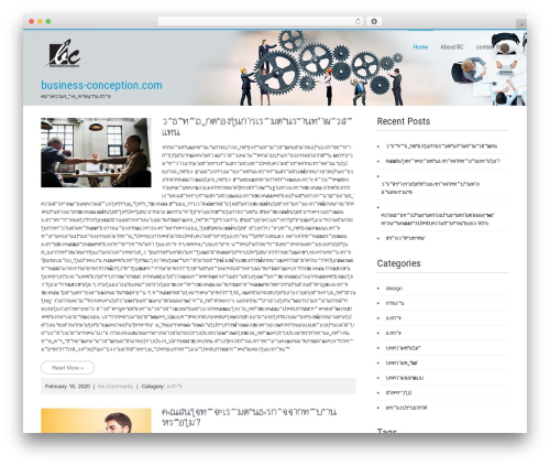 Businessweb Plus WordPress template for business - business-conception.com
