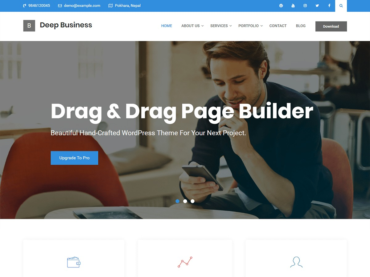 Deep Business company WordPress theme