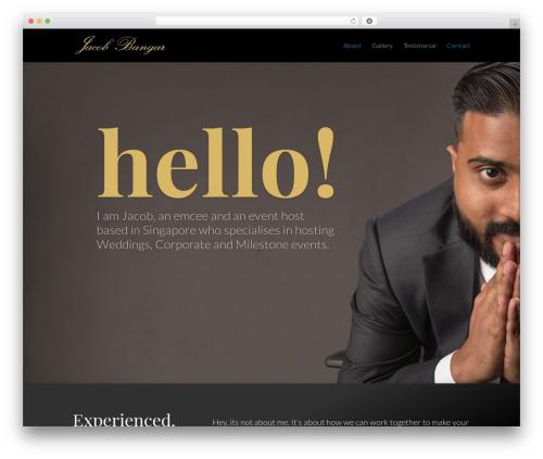 Divi best wedding WordPress theme - jacobbangar.com