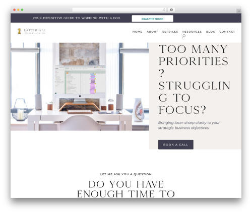 Divi company WordPress theme - latch-gate.com