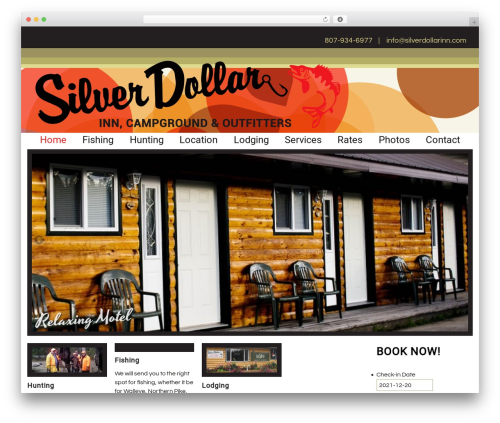 Silver Dollar Inn (2015) best WordPress theme - silverdollarinn.com