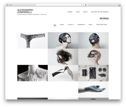 Singularity best free WordPress theme - alessandrozomparelli.com
