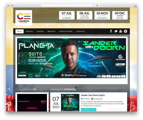 Theme WordPress SoundWave | Shared By Themes24x7.com - conciertosecuador.com