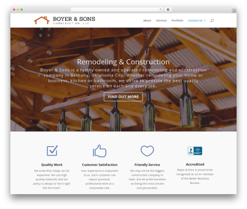 WordPress template Divi - boyerandsons.com