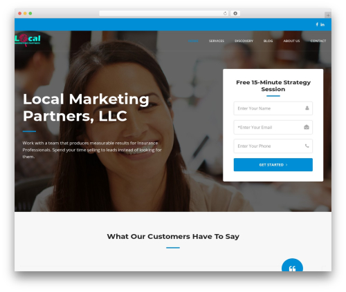 WP template Offline Sharks Lead Gen Child Theme - localmarketingpartners.com