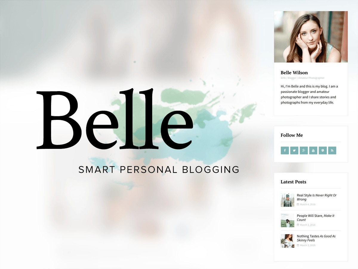Belle | Shared By Themes24x7.com WordPress blog template