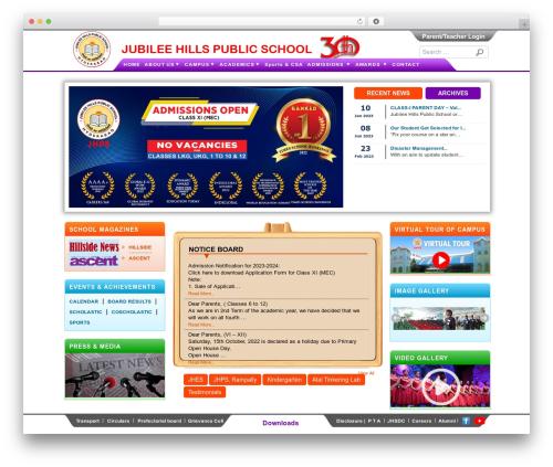 Best WordPress template Twenty Thirteen - jhpublicschool.com