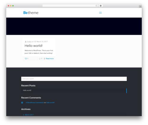 Betheme WordPress theme - elenadabul.com
