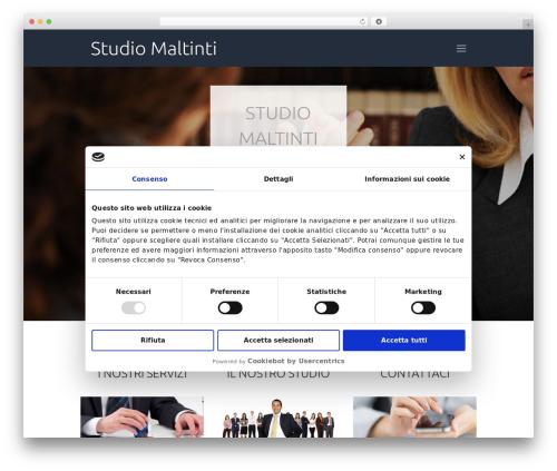 Betheme WordPress website template - studiomaltinti.com