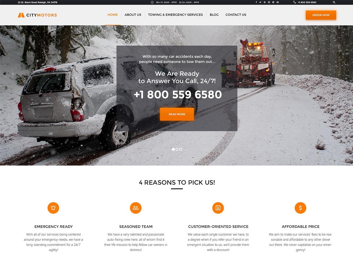 CityMotors motors WordPress theme