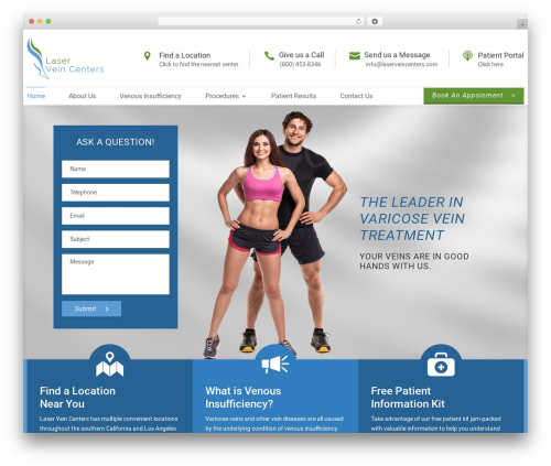 Divi top WordPress theme - laserveincenters.com