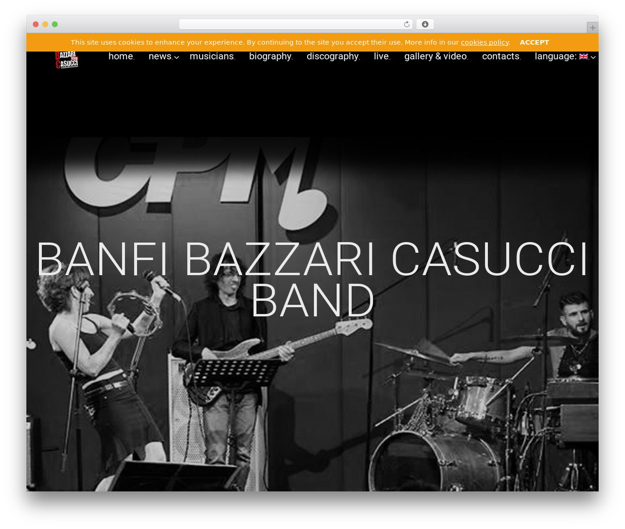 MUZIQ Jellythemes WordPress theme - banfiebazzariband.com