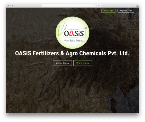 Oasis theme WordPress - oasisfertilizers.com