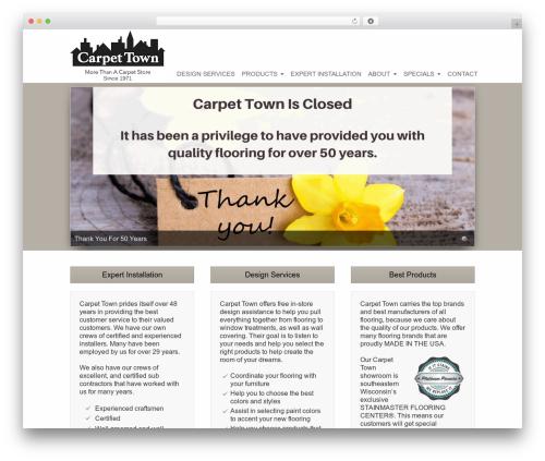 Striking MultiFlex & Ecommerce Responsive WordPress Theme WordPress shopping theme - carpet-town.com