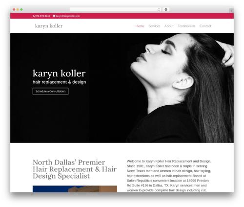 WordPress theme Divi - karynkoller.com