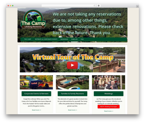Acoustic best wedding WordPress theme - thecampnc.com