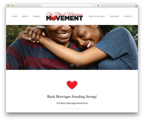 Avada WordPress page template - theblackmarriagemovement.org