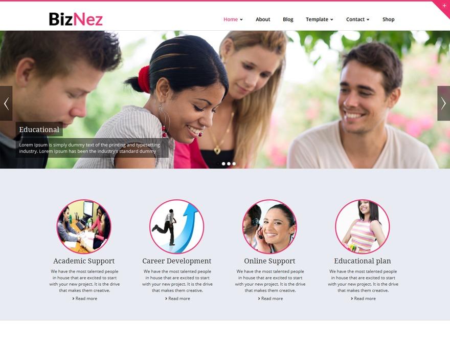 Best WordPress theme Biznez Child