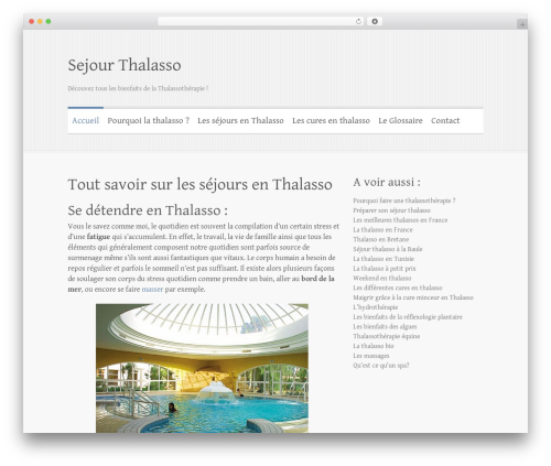 Best WordPress theme Clean Retina - thalassosejour.fr