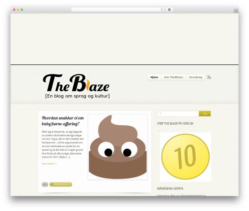 Beveled best WordPress theme - theblaze.dk
