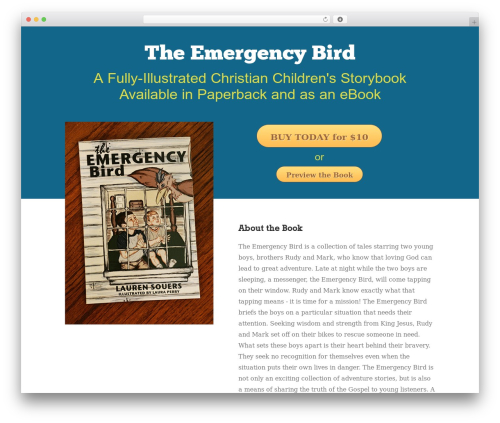 Booker WordPress theme design - theemergencybird.com