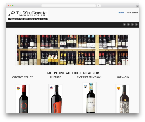 Celestial - Lite free website theme - thewinedetective.ca