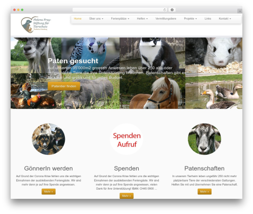 Customizr WordPress theme - tierschutzheim.ch