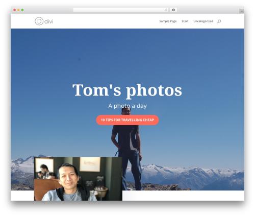 Divi premium WordPress theme - tomchow.com