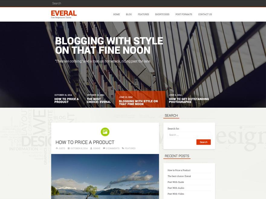 Everal WordPress blog template