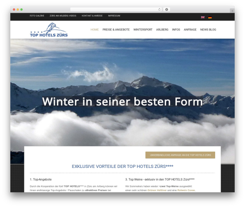 Hotec best hotel WordPress theme - tophotelszuers.at