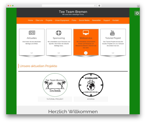 isis WordPress template for business - tee-team-bremen.de