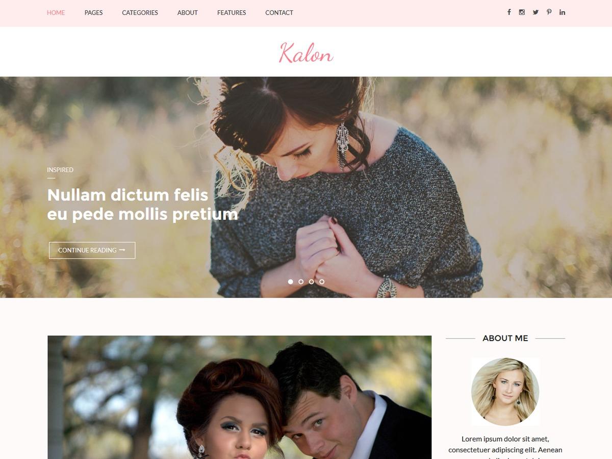 Kalon Pro WordPress blog template