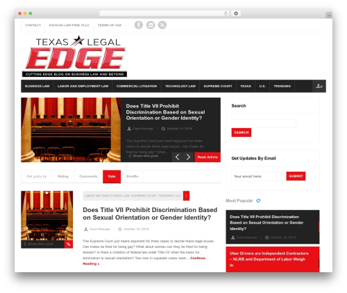 Magnovus WordPress theme - txlegaledge.com