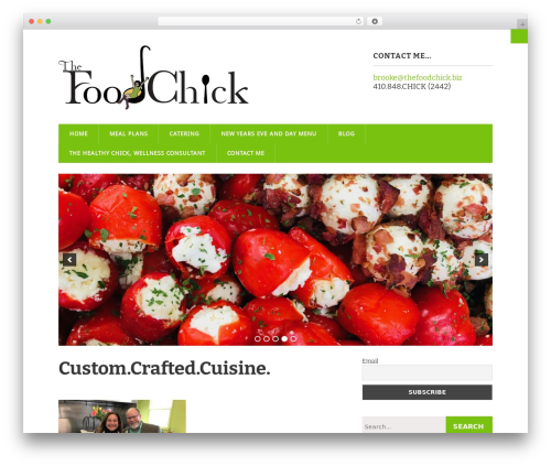 Modern Business food WordPress theme - thefoodchick.biz