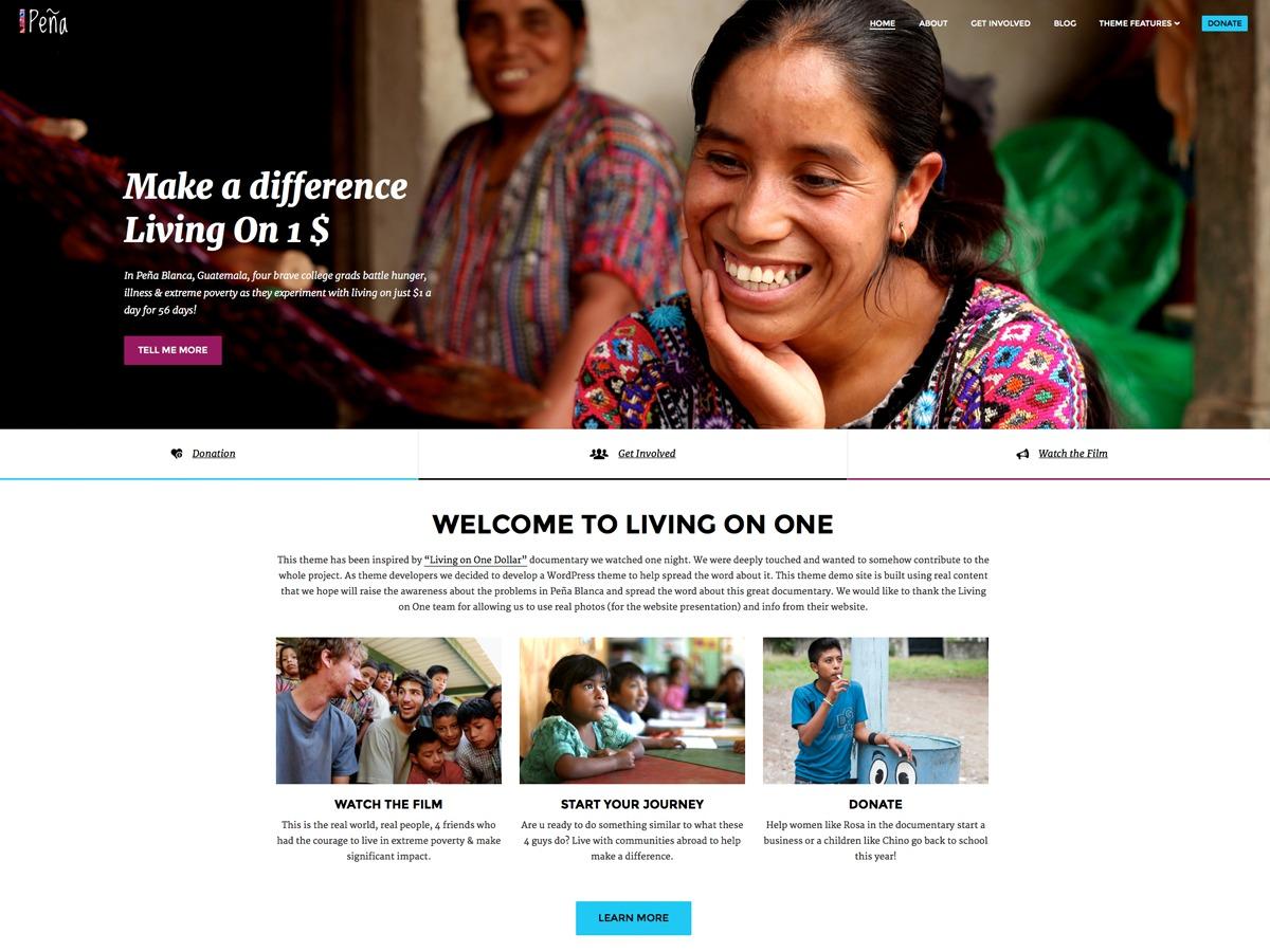 Pena WordPress ecommerce theme
