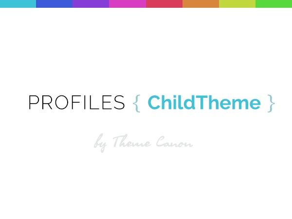 Profiles Child Theme best WordPress template
