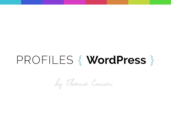 Profiles WordPress theme