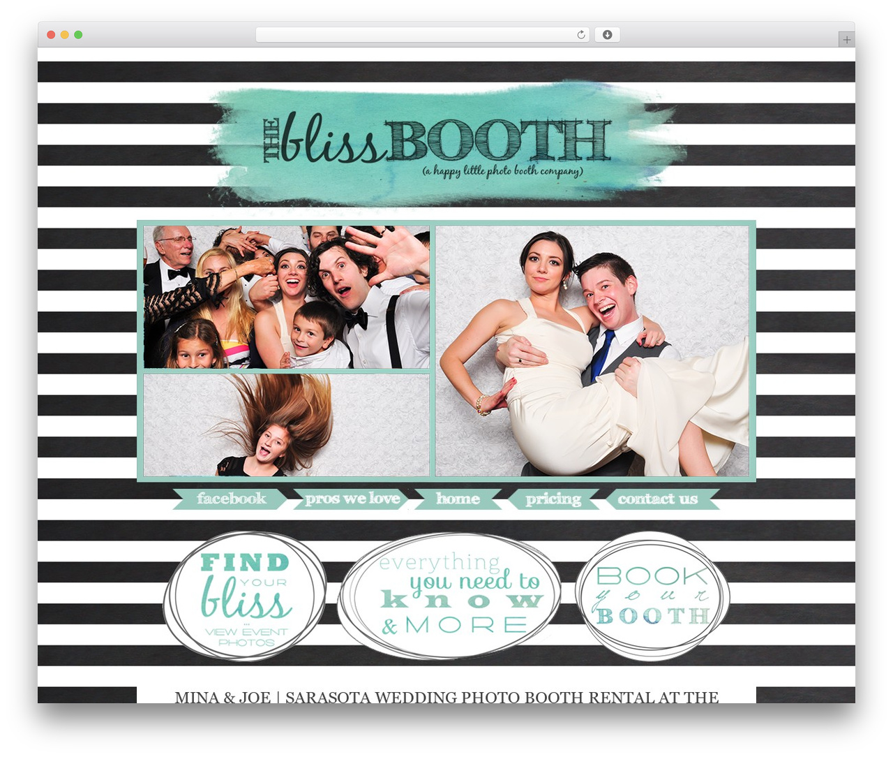 ProPhoto WordPress blog theme - theblissbooth.com
