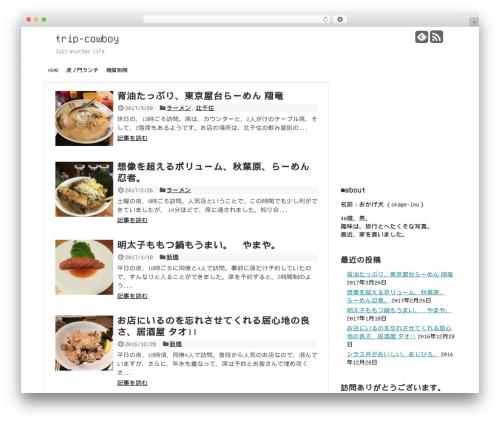 Simplicity2 WordPress theme - trip-cowboy.net