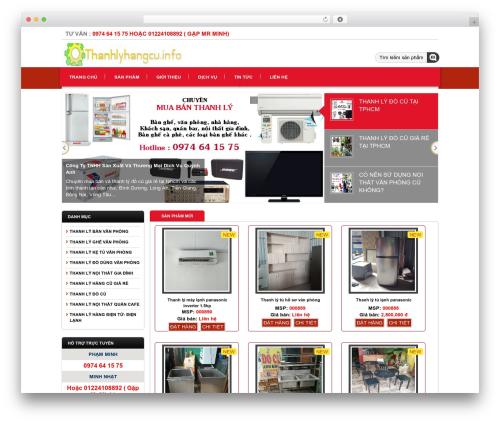 Template WordPress Pinshop - thanhlyhangcu.info